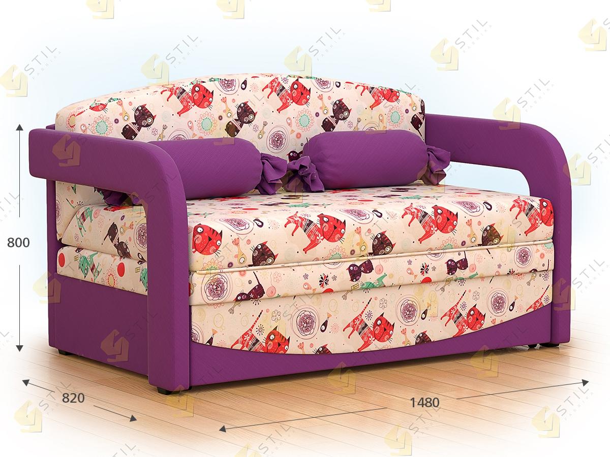 Детский выкатной диван Бейбик 4А