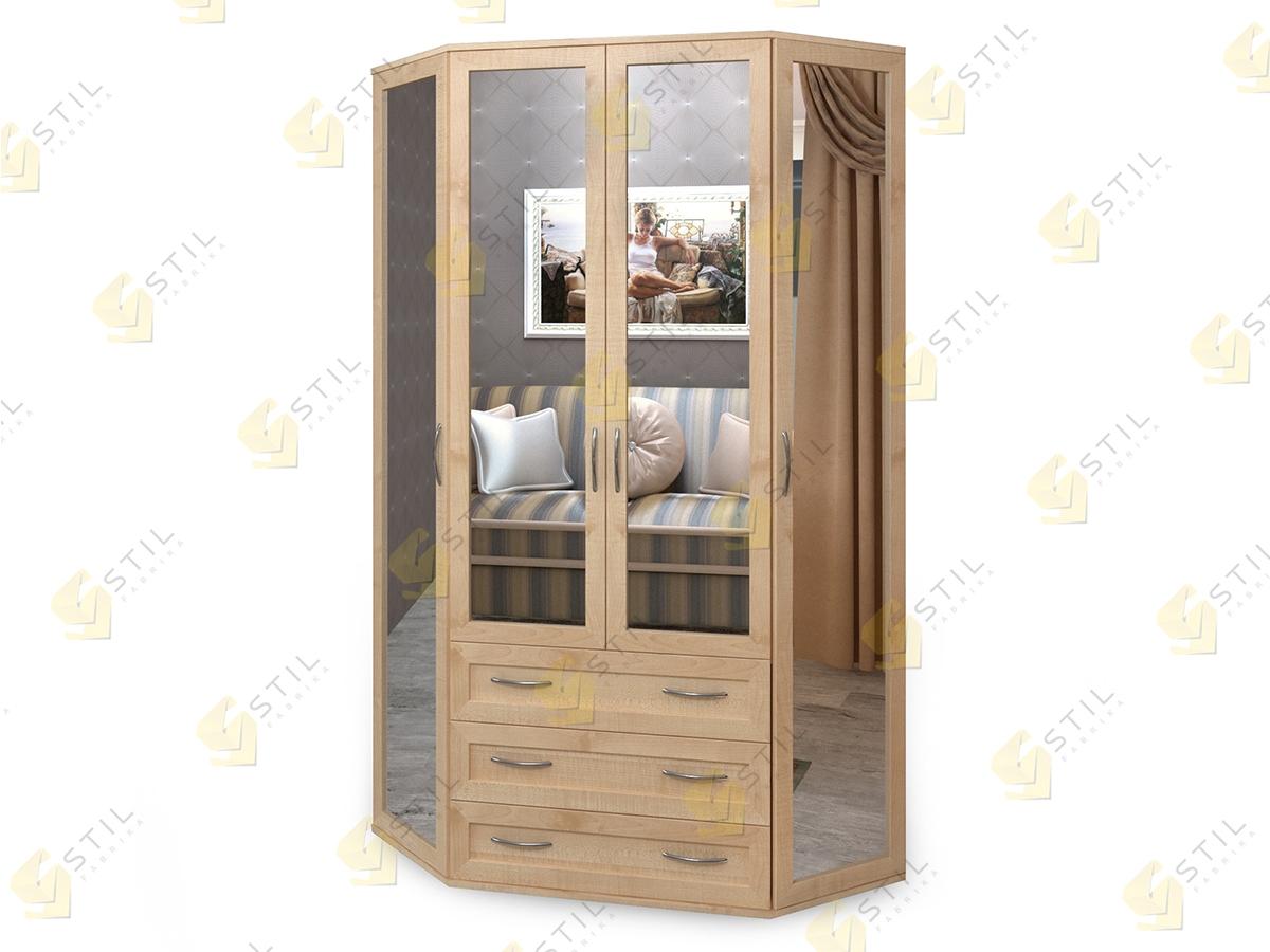 Распашной эркерный шкаф Э-2МЗ