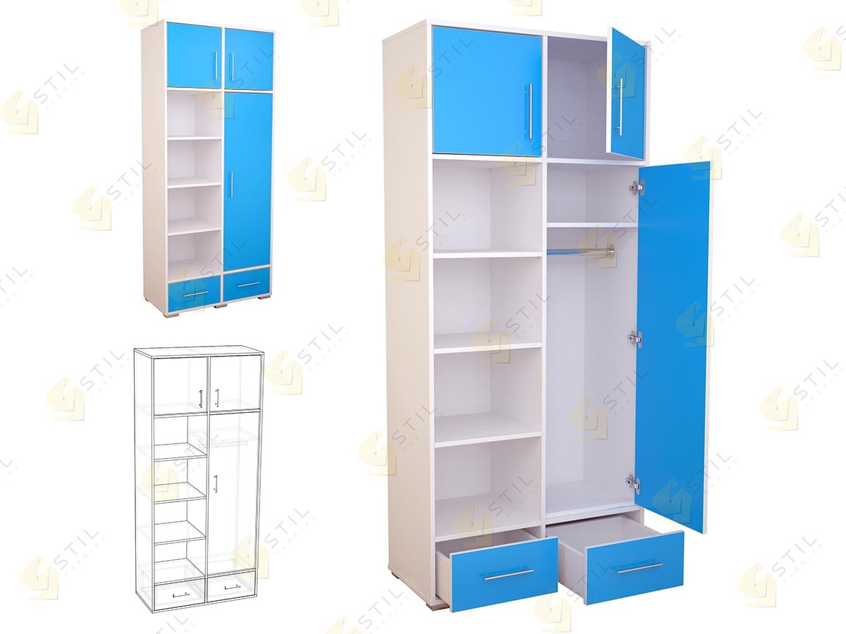 Распашной шкаф в детскую Бэби Стиль Ш-1