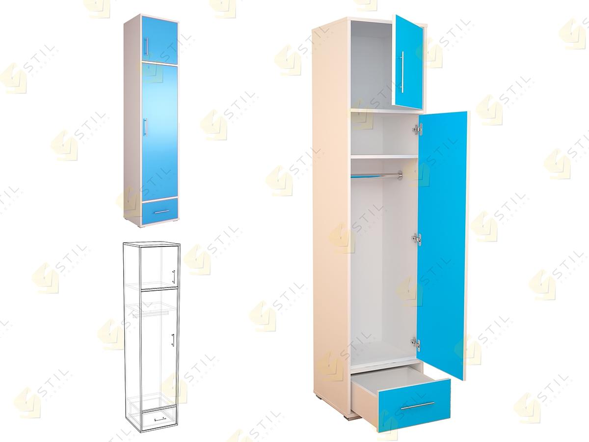 Недорогой шкаф-пенал для детской Бэби Стиль Ш-1