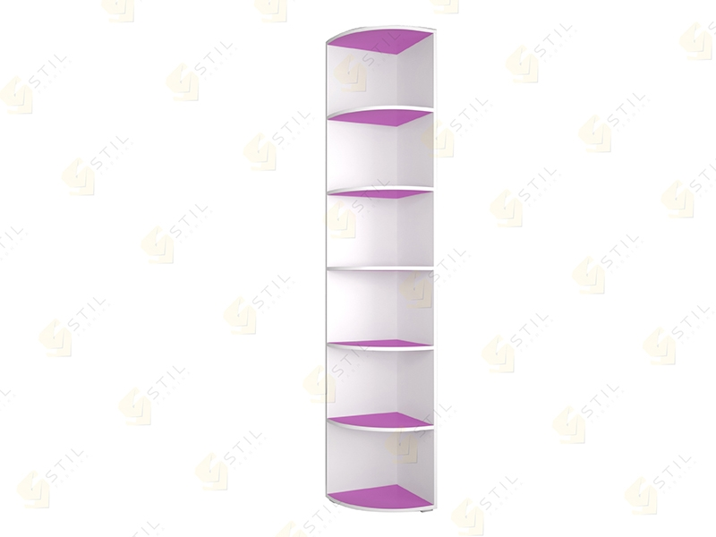 Недорогой угловой стеллаж для детской