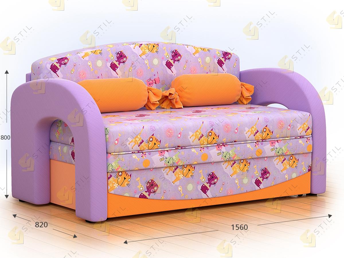 Детский выкатной диван Бейбик 7-130