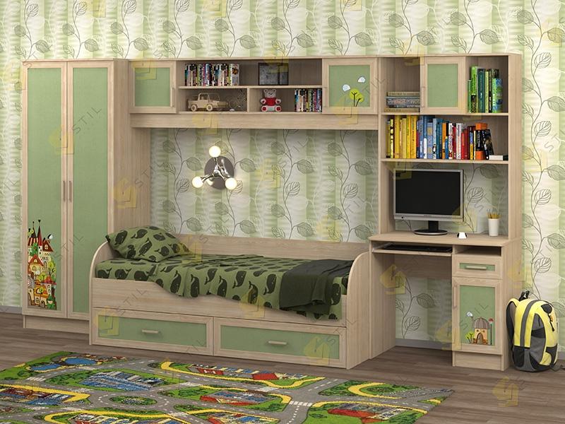 Недорогая мебель в детскую Белоснежка-1 рис.Город