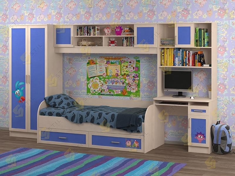Недорогая мебель для детской Белоснежка-1 рис.Смешарики