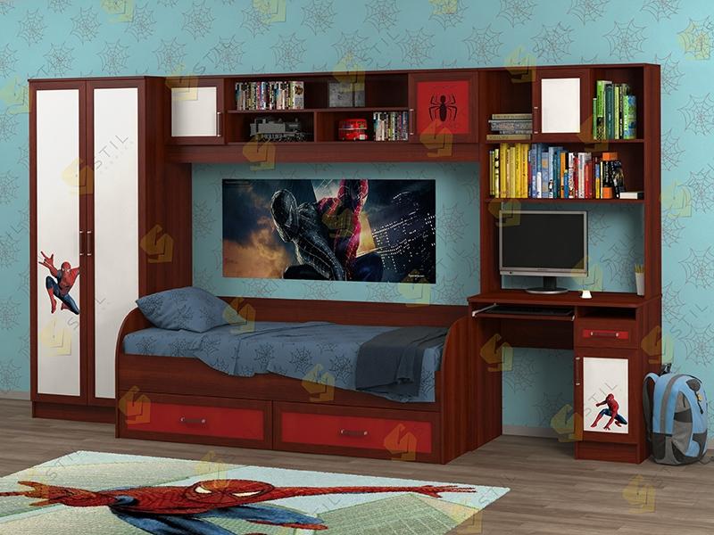 Недорогая мебель в детскую Белоснежка-1 рис.Человек-Паук