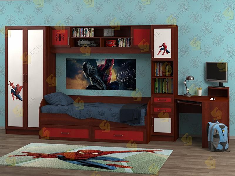 Недорогая мебель в детскую Белоснежка-2 рис.Человек-паук