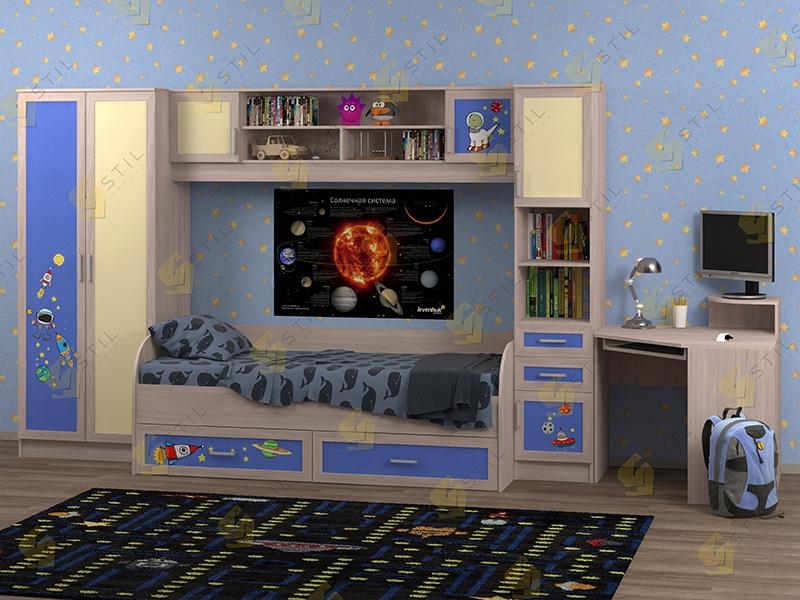 Недорогая мебель в детскую Белоснежка-2 рис.Космос