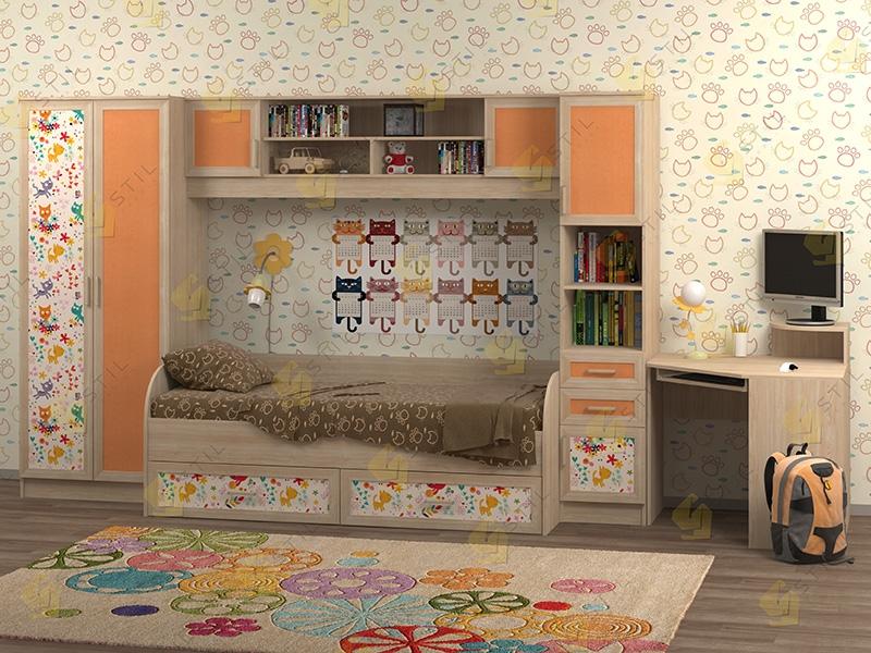 Недорогая мебель в детскую Белоснежка-2 рис.Коты