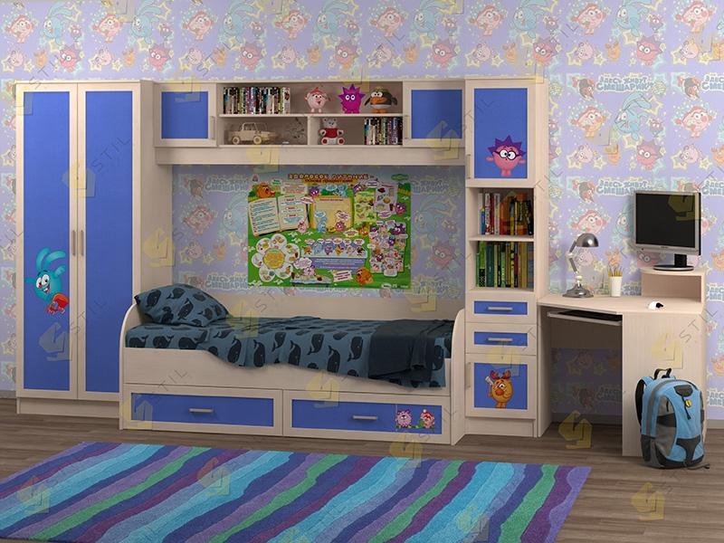 Недорогая мебель в детскую Белоснежка-2 рис.Смешарики