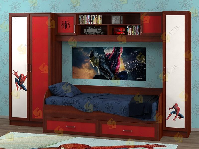 Недорогая мебель в детскую Белоснежка-3 рис.Человек-паук