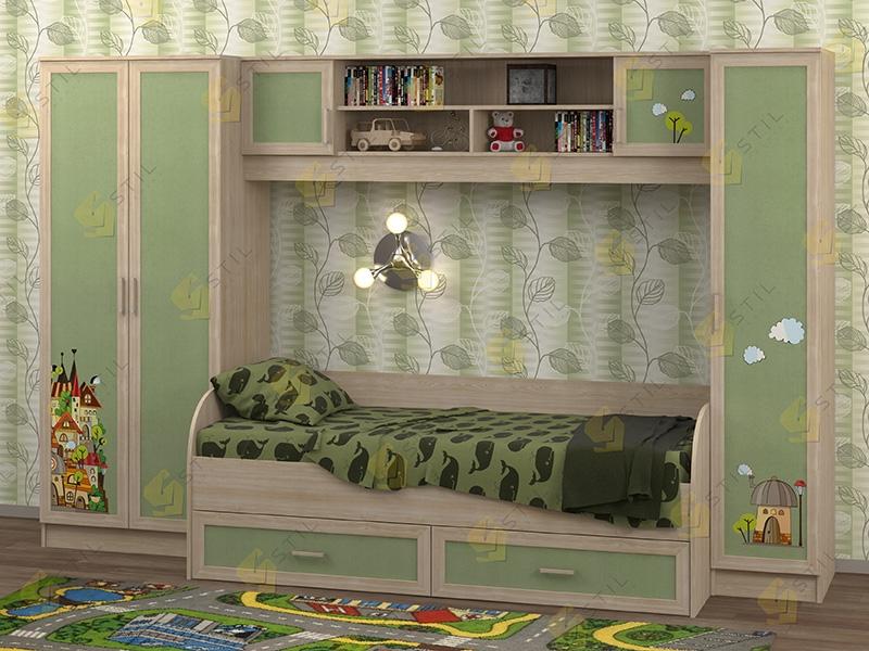 Недорогая мебель в детскую Белоснежка-3 рис.Город