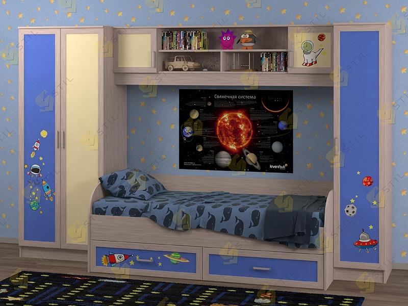 Недорогая мебель в детскую Белоснежка-3 рис.Космос