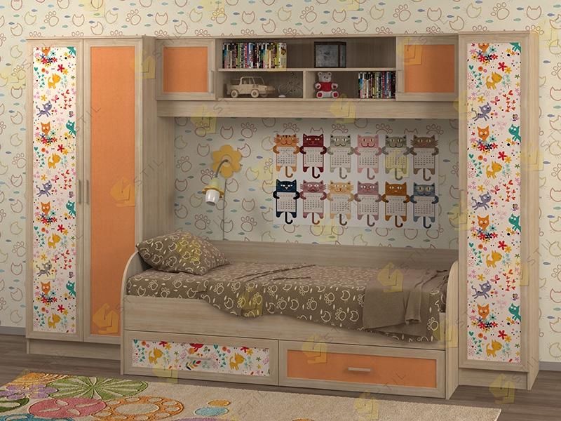 Недорогая мебель для детской Белоснежка-3 рис.Коты