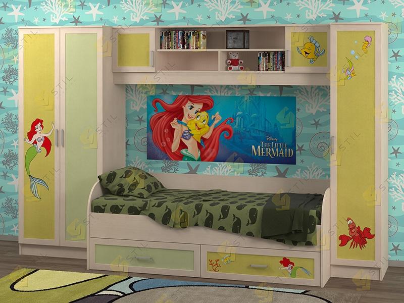 Недорогая мебель в детскую Белоснежка-3 рис.Русалка