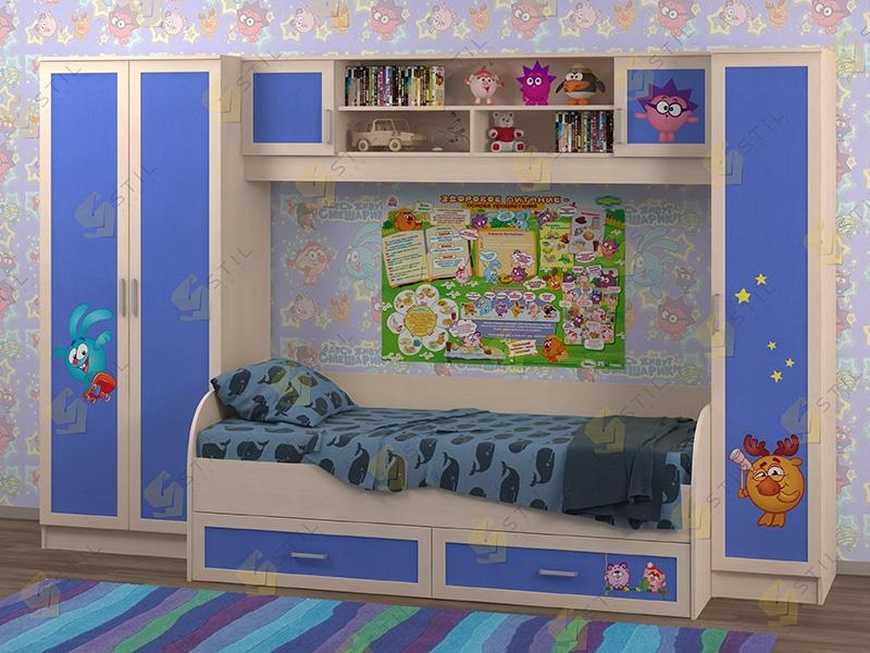Недорогая мебель в детскую Белоснежка-3 рис.Смешарики