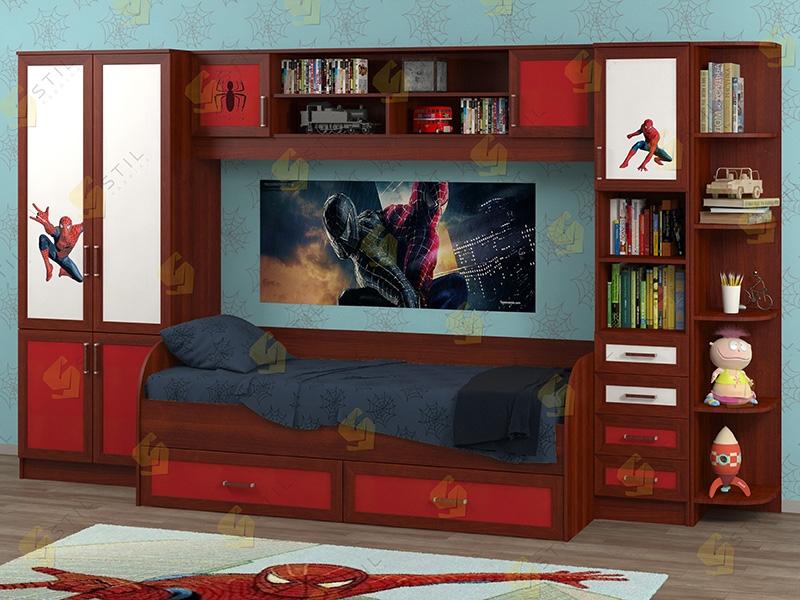 Недорогая мебель в детскую Белоснежка-4 рис.Человек-паук