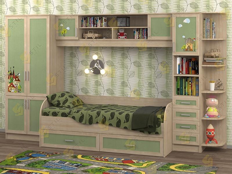 Недорогая мебель в детскую Белоснежка-4 рис.Город