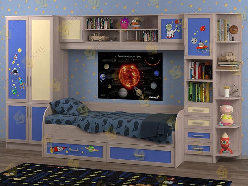 Недорогая мебель в детскую Белоснежка-4 рис.Космос