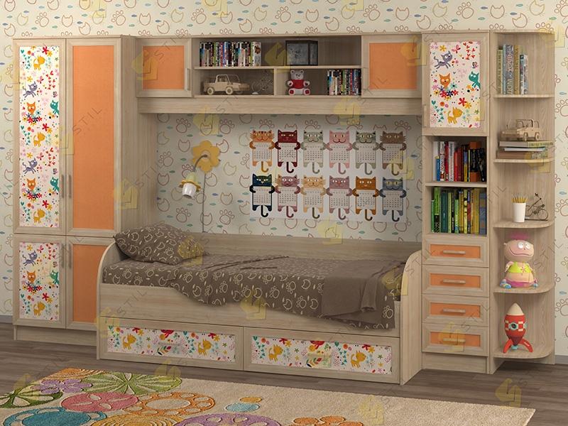 Недорогая мебель в детскую Белоснежка-4 рис.Коты