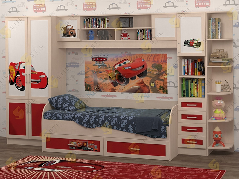 Недорогая мебель в детскую Белоснежка-4 рис.Маквин
