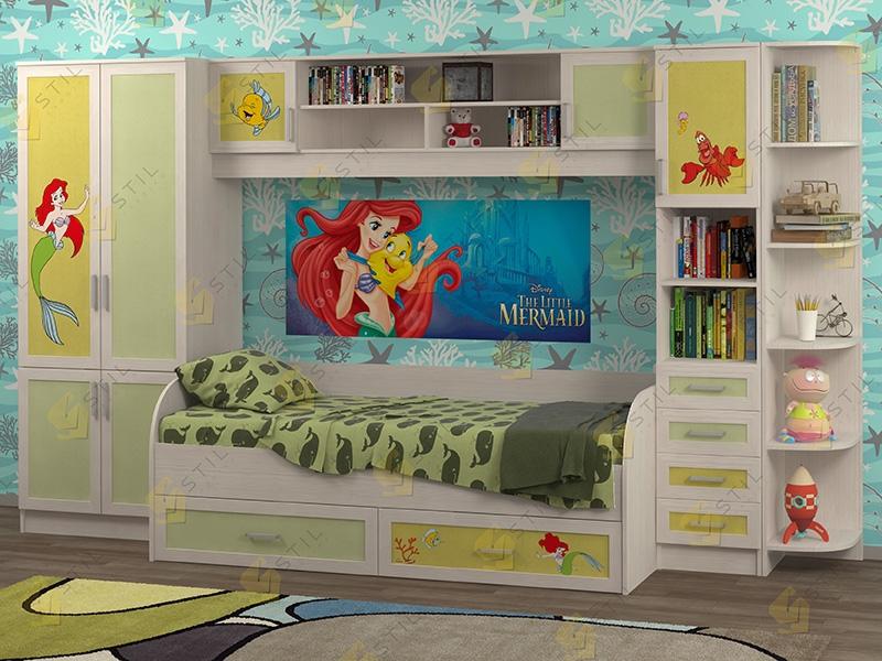 Недорогая мебель в детскую Белоснежка-4 рис.Русалка