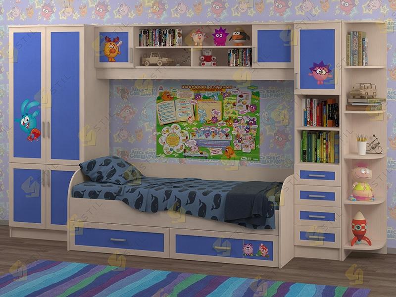 Недорогая мебель в детскую Белоснежка-4 рис.Смешарики