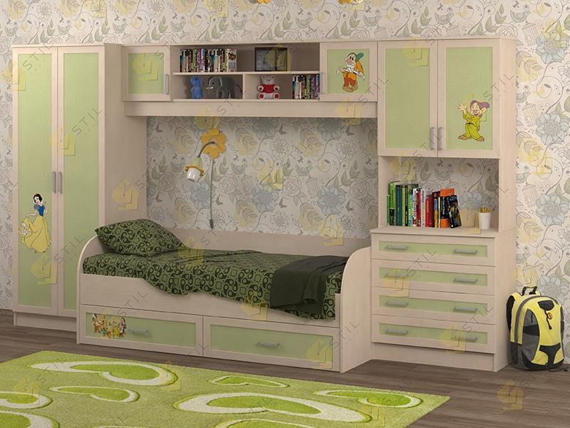 Недорогая мебель в детскую Белоснежка-5 рис.Белоснежка