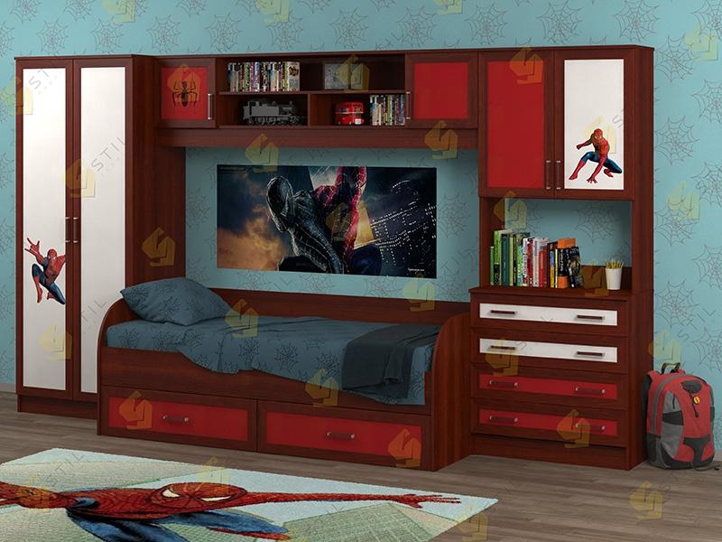 Недорогая мебель в детскую Белоснежка-5 рис.Человек-паук