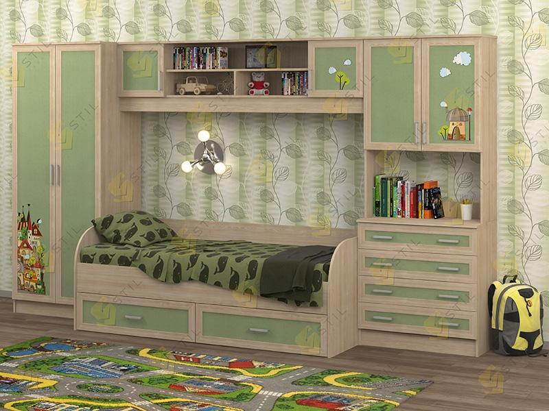 Недорогая мебель в детскую Белоснежка-5 рис.Город
