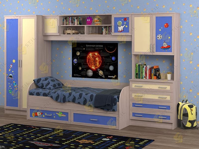 Недорогая мебель в детскую Белоснежка-5 рис.Космос