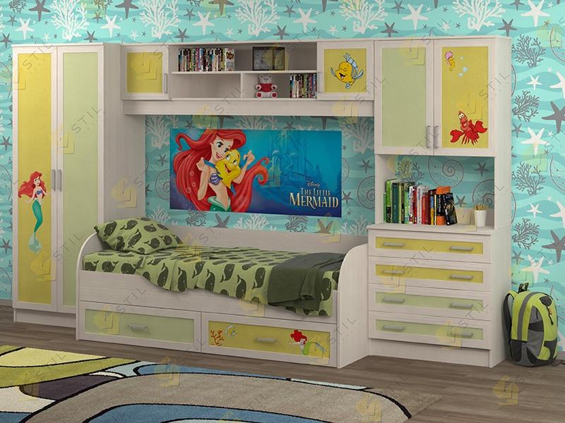 Недорогая мебель в детскую Белоснежка-5 рис.Русалка