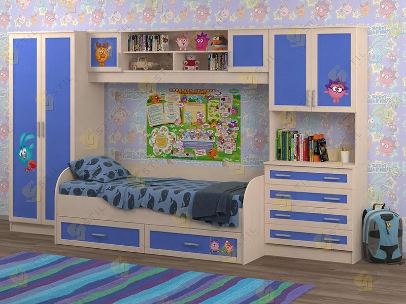 Недорогая мебель в детскую Белоснежка-5 рис.Смешарики