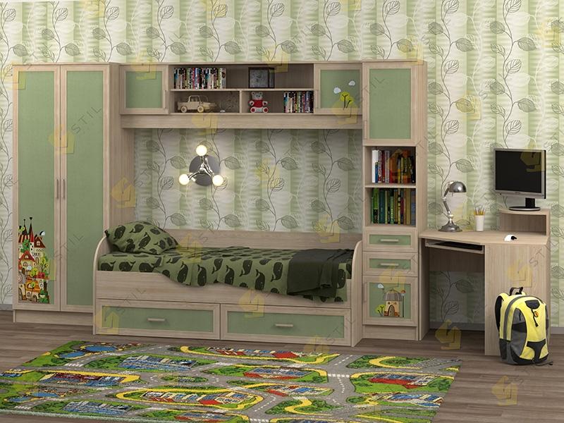 Недорогая мебель в детскую Белоснежка-2 рис.Город