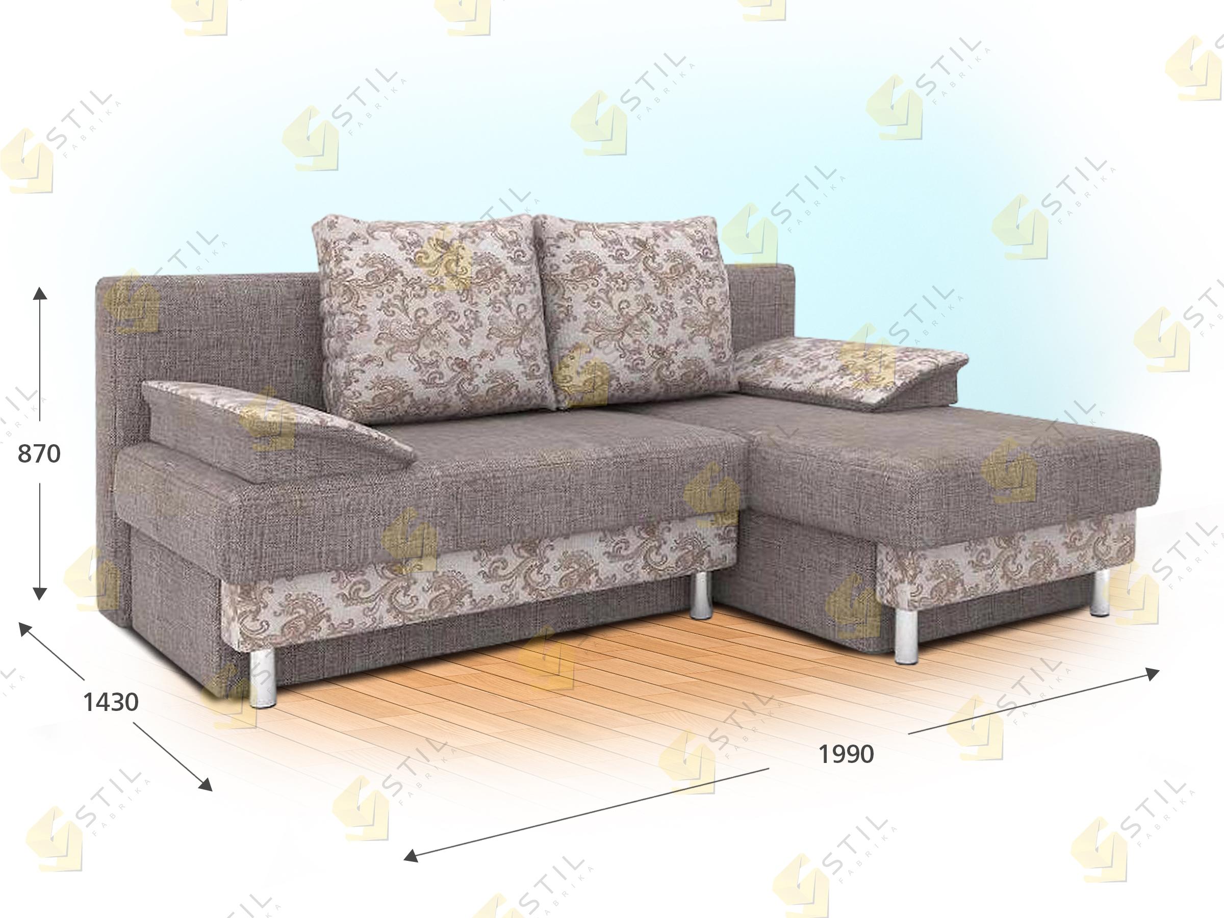 Угловой диван Бизе
