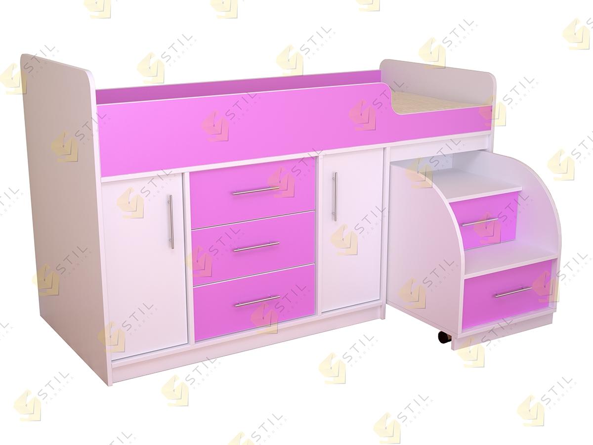 Недорогая кровать-чердак в детскую Бэби Стиль КЧ-2
