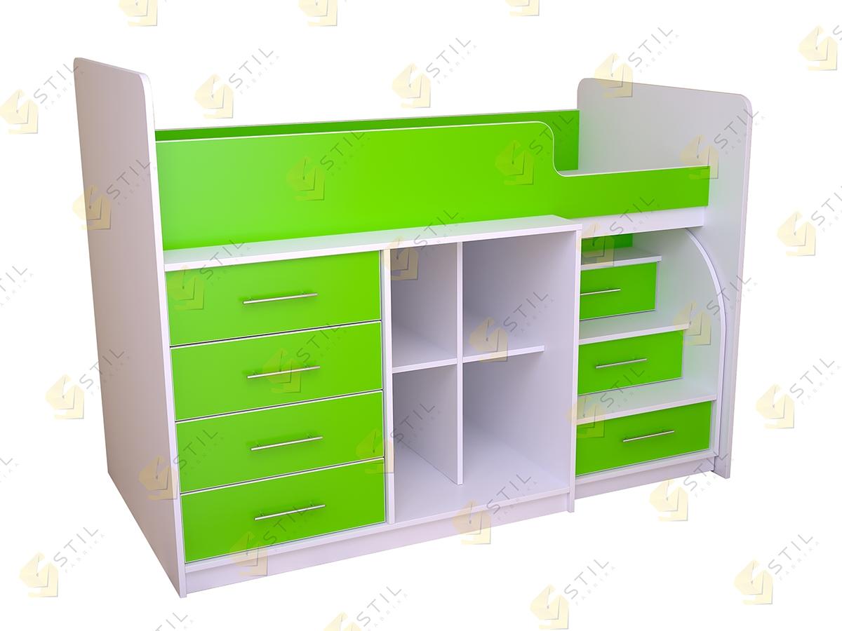 Кровать-чердак для детской Бэби Стиль КЧ-3