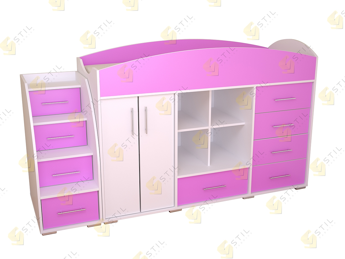 Недорогая кровать-чердак Бэби Стиль КЧ-8