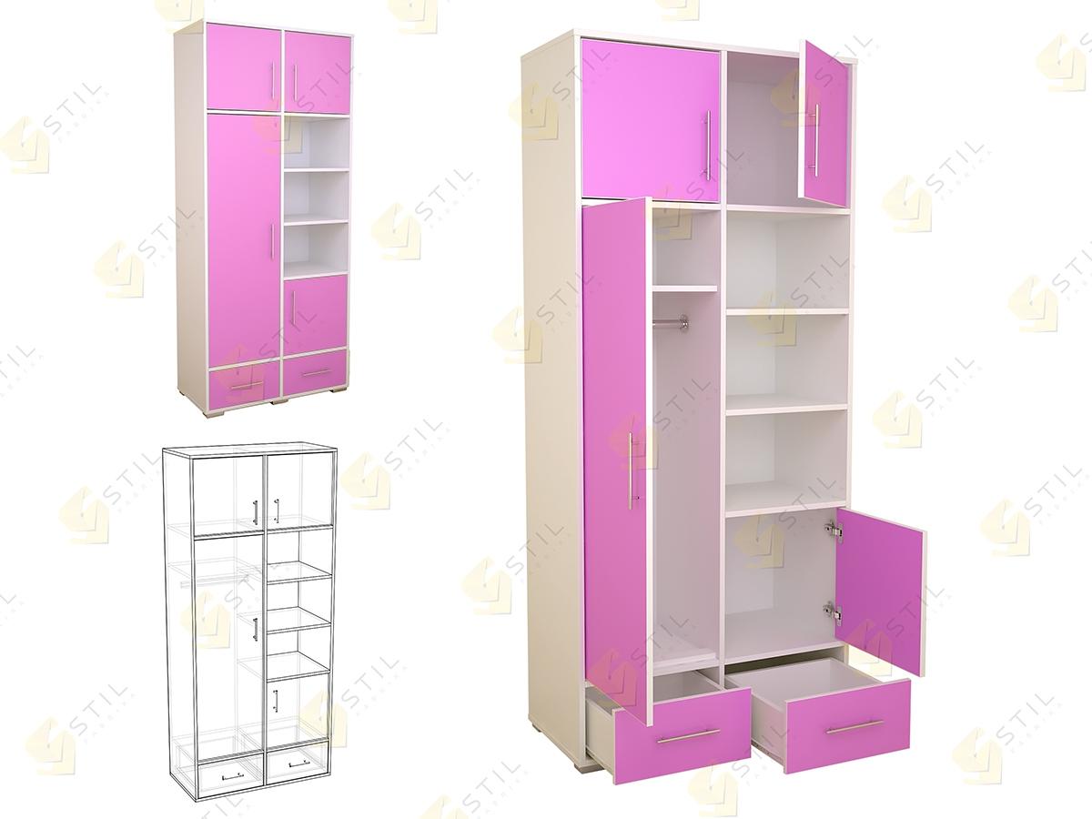 Распашной шкаф в детскую Бэби Стиль Ш-5