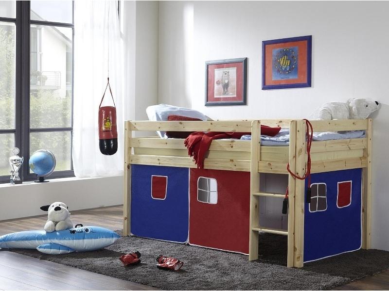 Кровать-чердак из массива N1