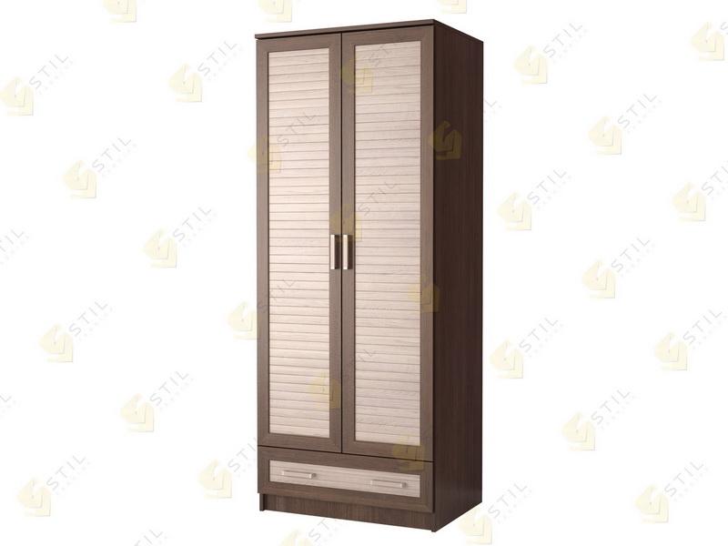 Недорогой двухстворчатый шкаф с реечными фасадами Д-2Р