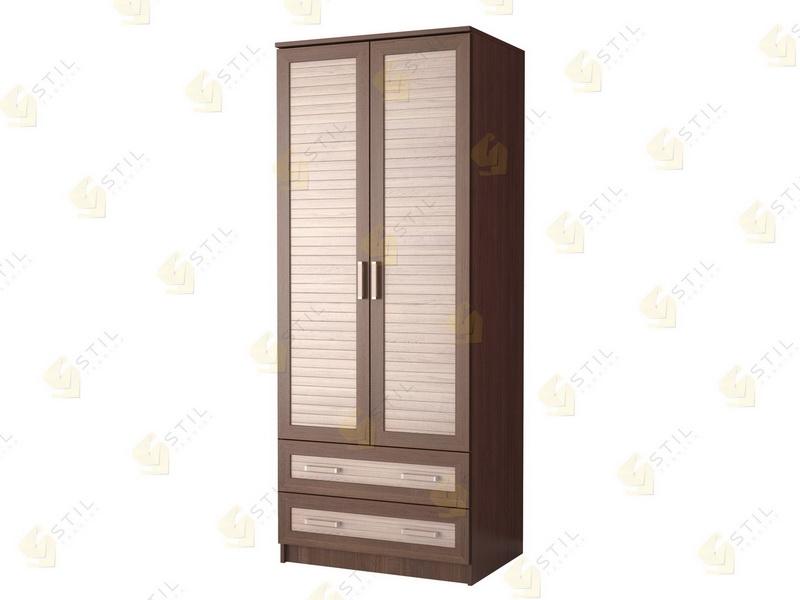 Недорогой двухстворчатый шкаф с реечными фасадами Д-3Р