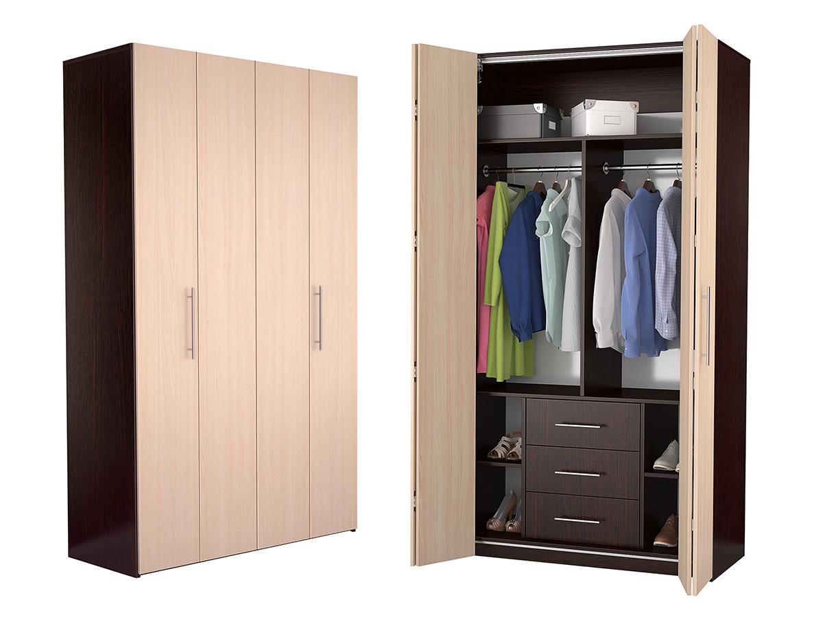 Недорогой четырехдверный шкаф-гармошка Дегар Ч6
