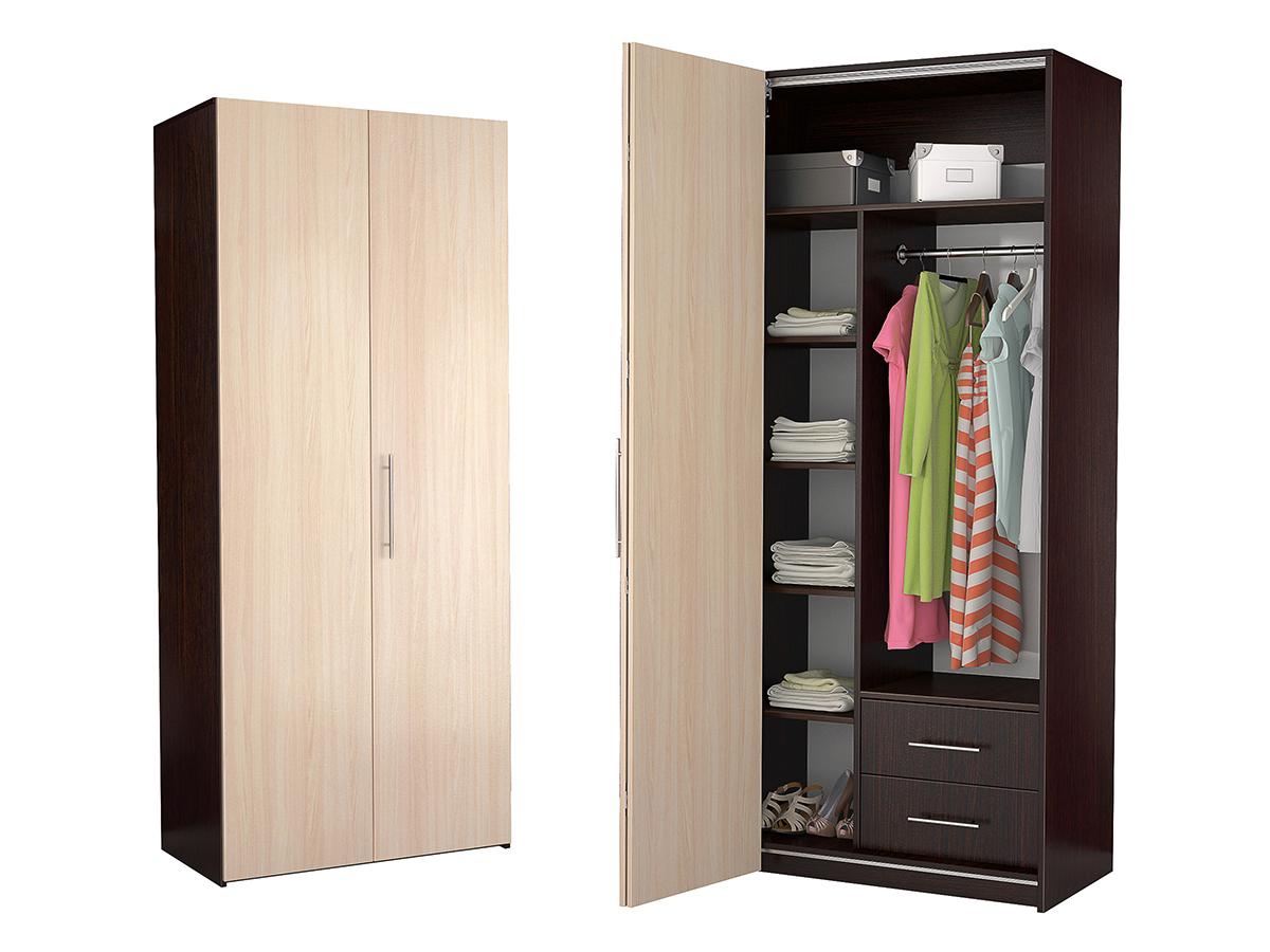 Недорогой двухдверный шкаф-гармошка Дегар Д4