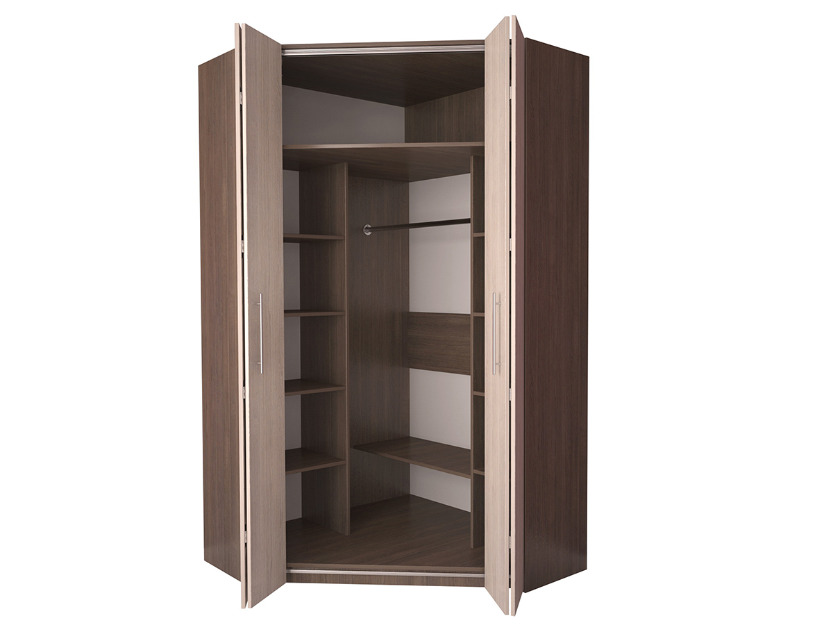 Недорогой угловой шкаф-гармошка Дегар У4