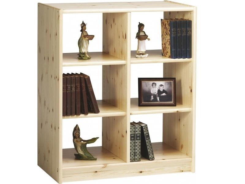 Деревянный стеллаж для книг Лилия №5