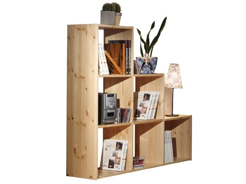 Деревянный стеллаж для книг Лилия №6