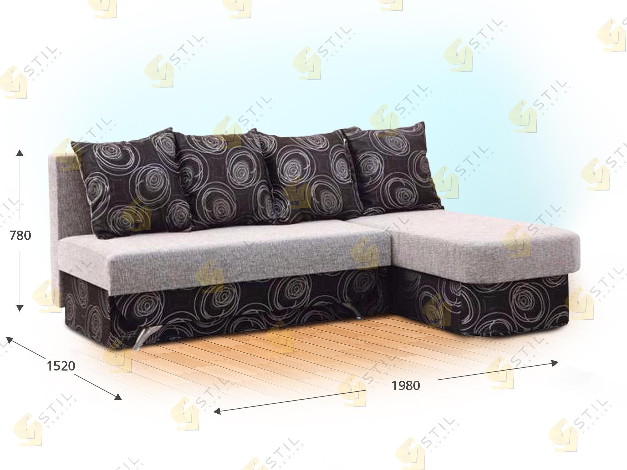 Угловой диван Динику
