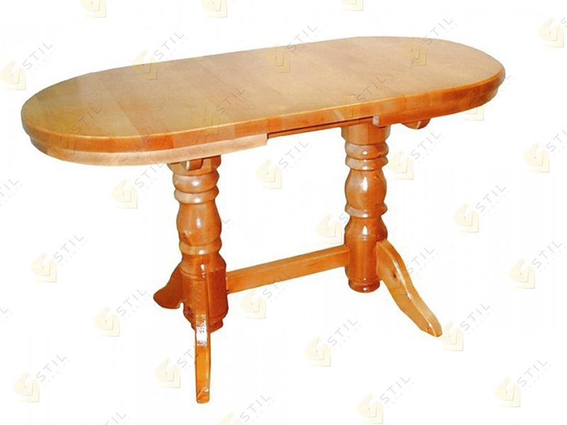 Раздвижной кухонный стол из массива Джонатан-2