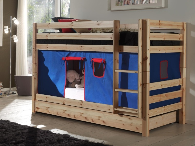 Кровать из массива двухъярусная игровая N2