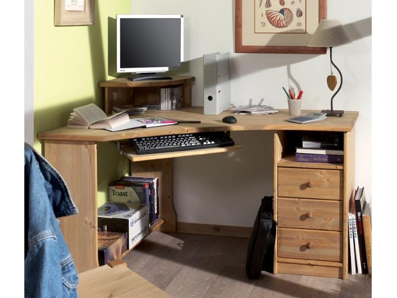 Компьютерный стол из массива №1